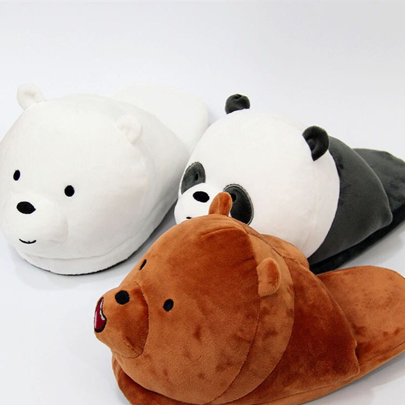 6864e43813a7  PO  We Bare Bears Bedroom Slippers