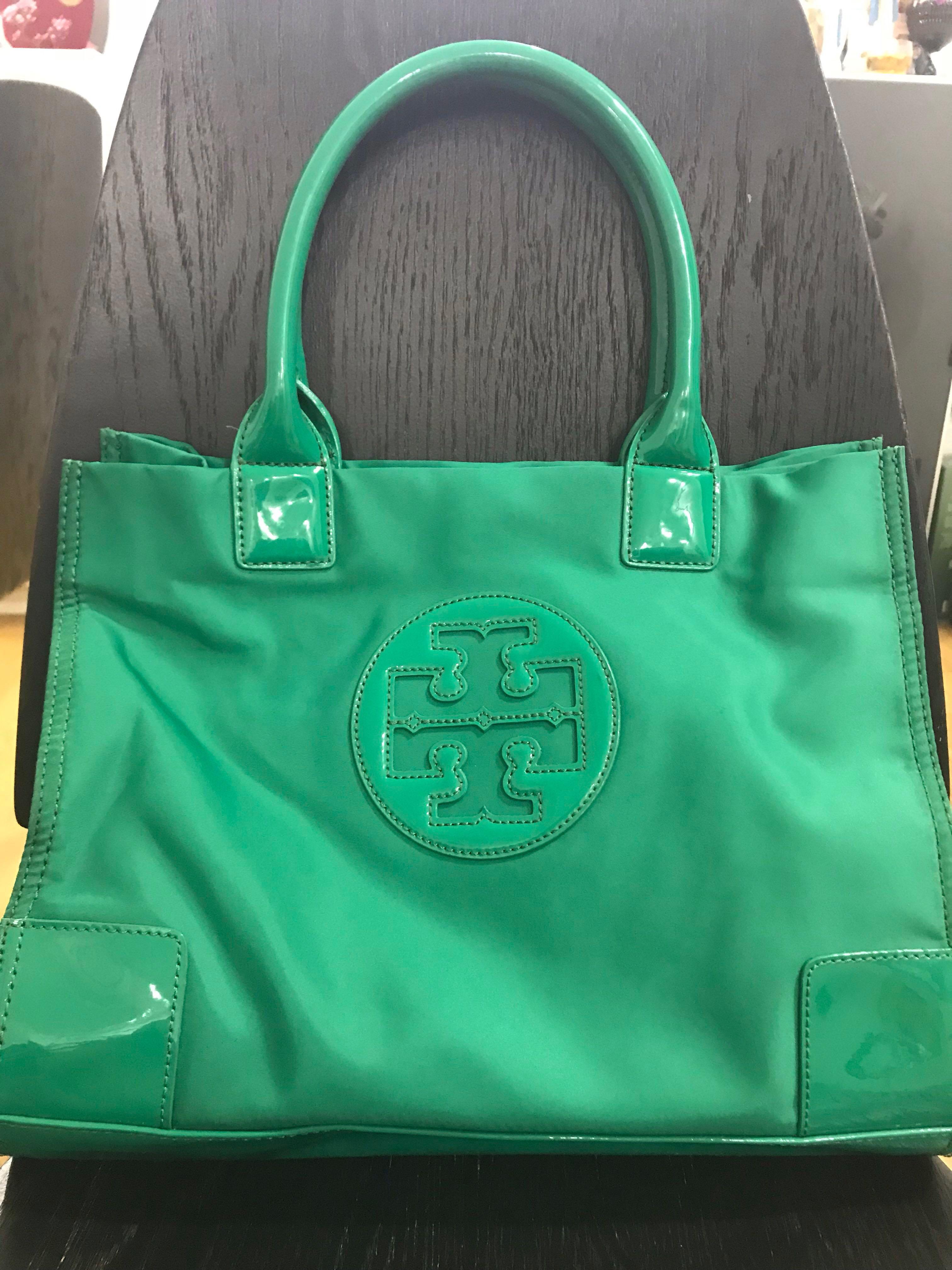 39e8fa48ef0 Preloved Tory Burch Green Tote Bag (Medium)