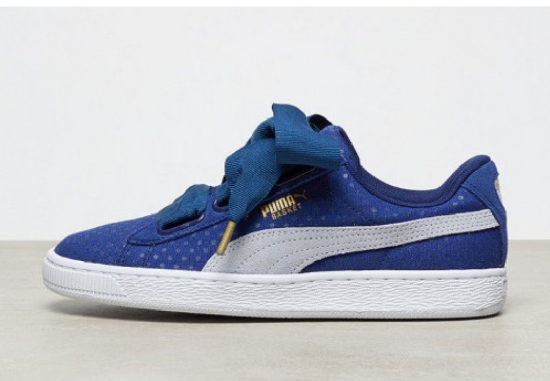 san francisco 463e5 38c42 Size 39 PUMA BASKET HEART DENIM