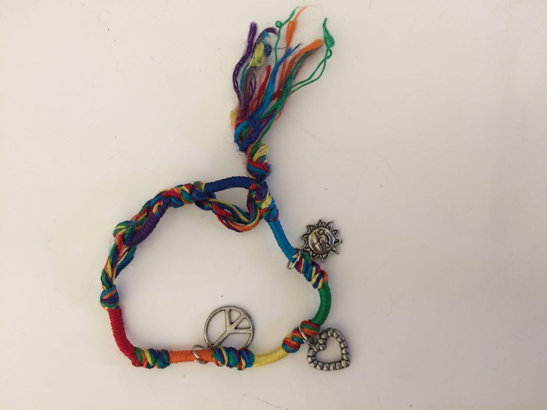 Rainbow charm bracelet