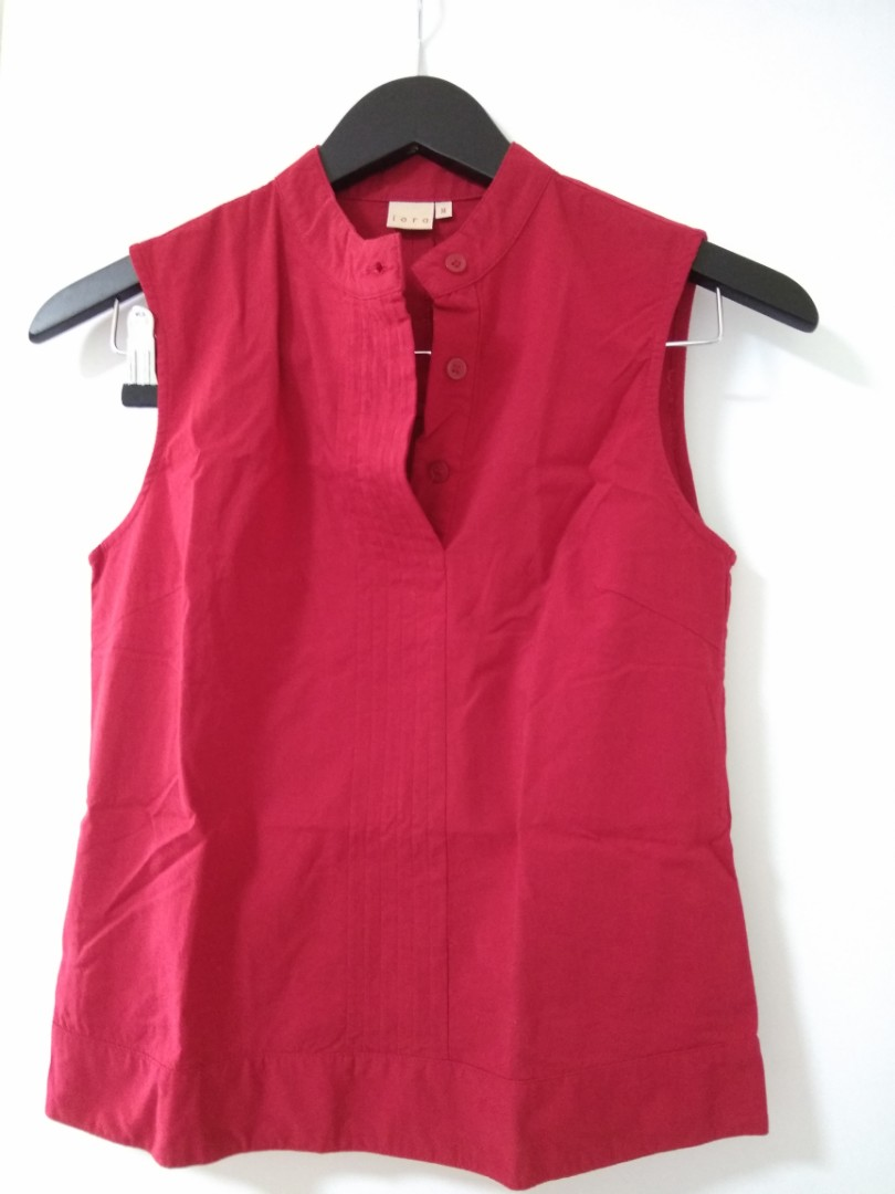 Lycra Fabric Red blouse (M size)