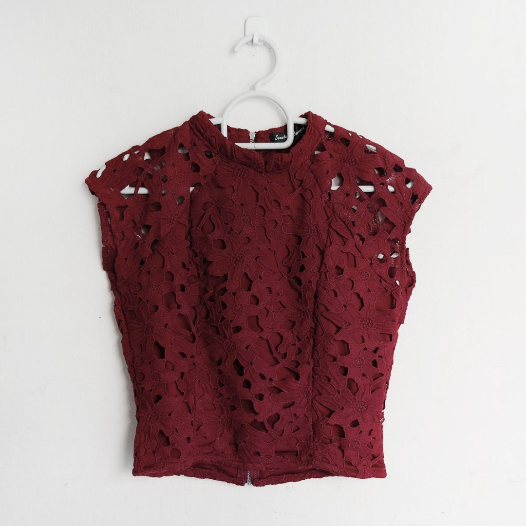 06bdb7c9e8b Red Floral Lace Crop Top « Alzheimer's Network of Oregon