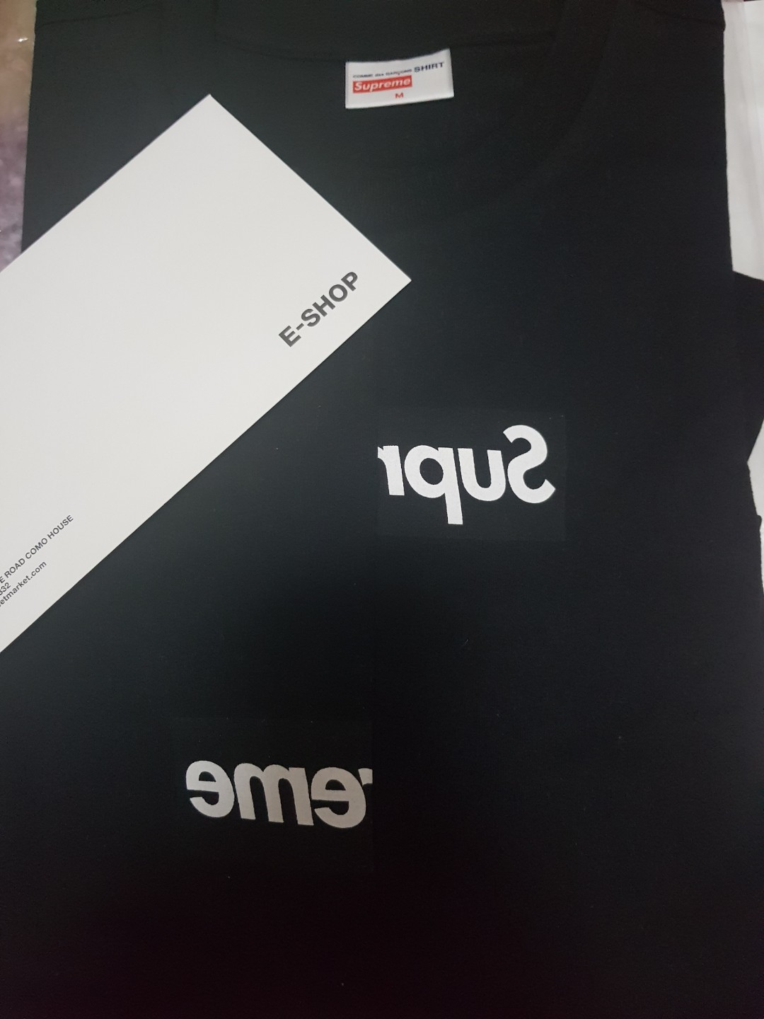 9c2bf8be Supreme x cdg bogo tee, Men's Fashion, Clothes, Tops on Carousell