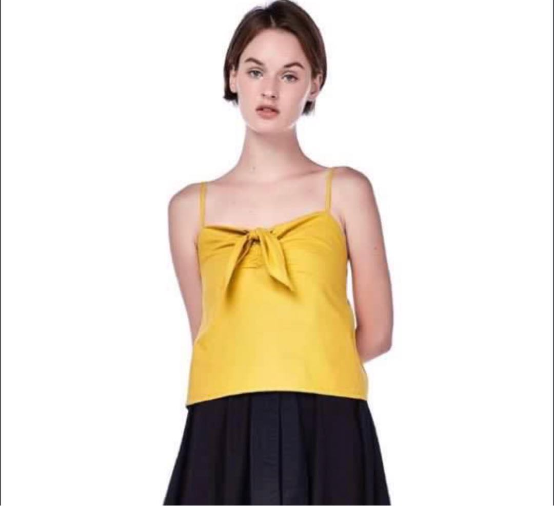 1d30e2024e00ff TEM meara front tie crop top, Women's Fashion, Clothes, Tops on ...
