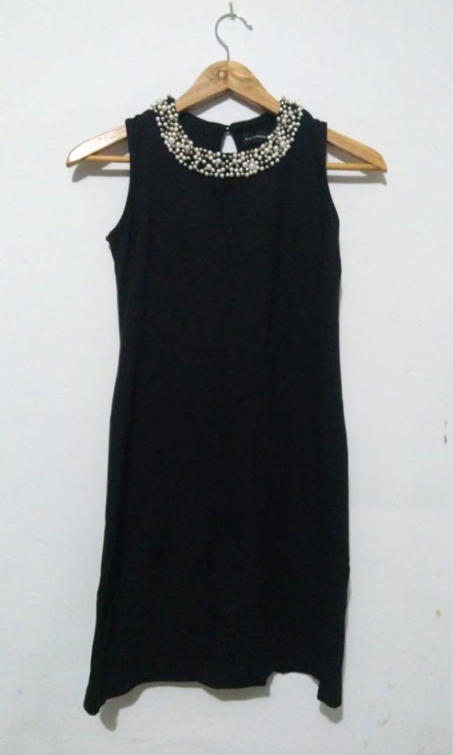 The Executive black pearl dress