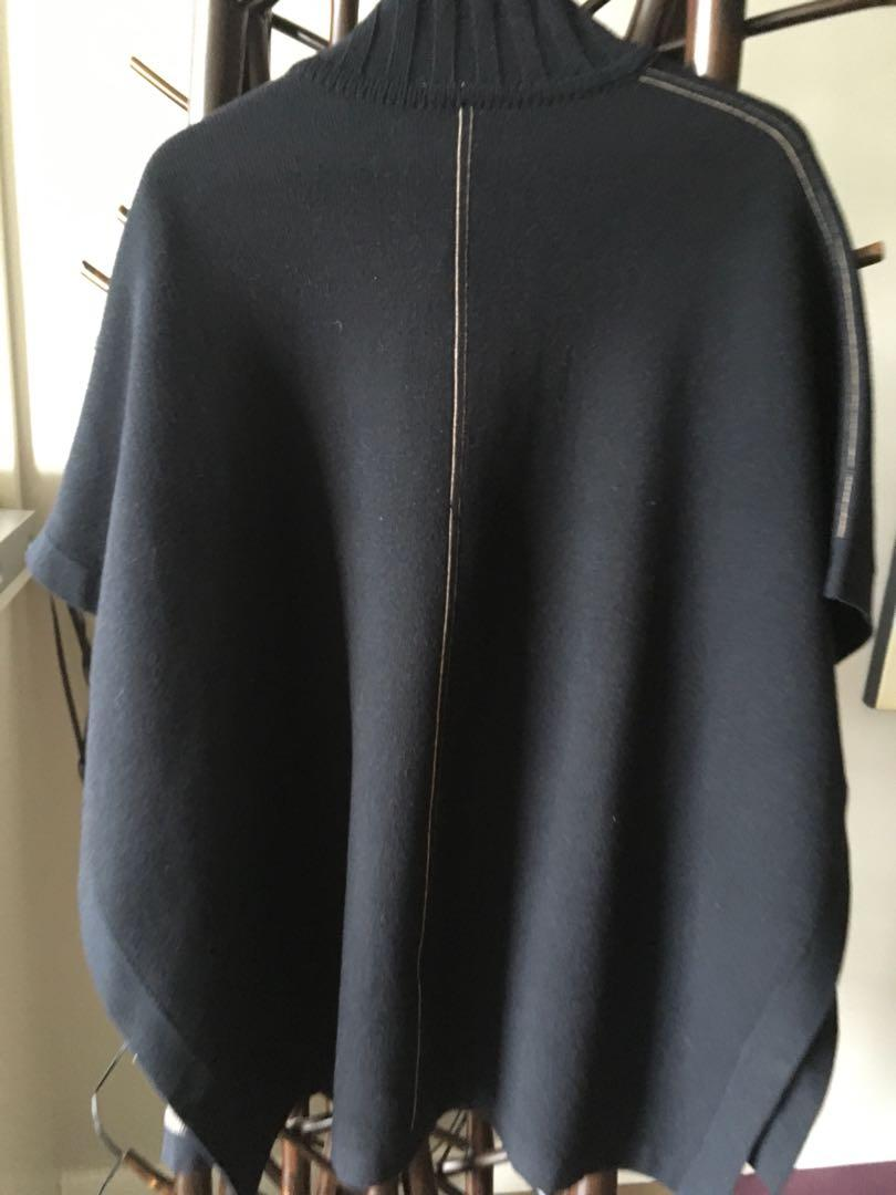 Theory Reversible Knit Cape sweater