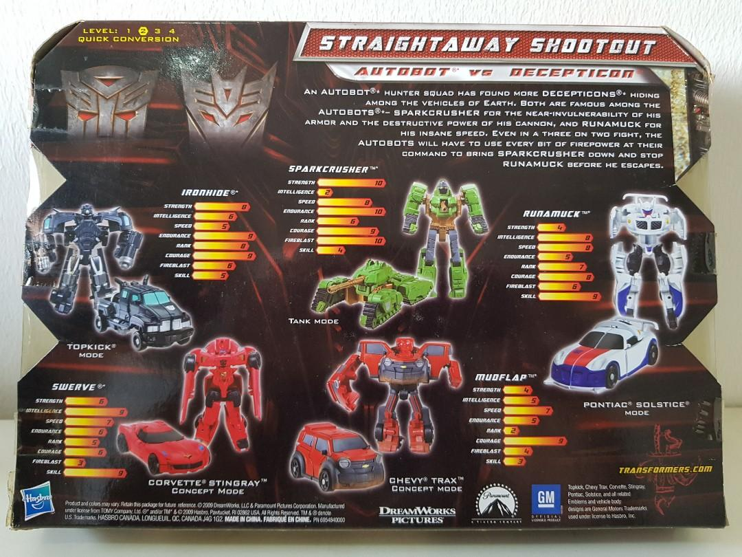 Transformers Revenge Of The Fallen Straightaway Shootout