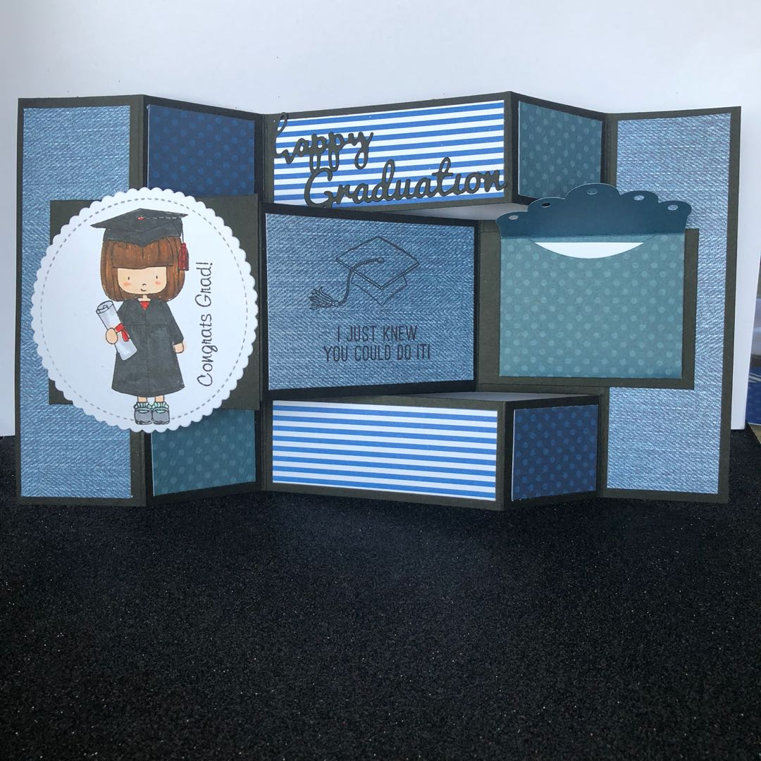 Tri Fold Graduation Card Girl Design Craft Others On Carousell