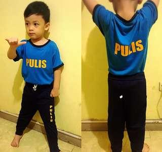 Pulis tshirt and jogger pants for 2 to 4 yrs old