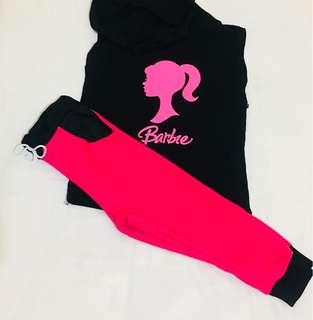 Barbie hoodie and jogger pants for 2 to 4 yrs old