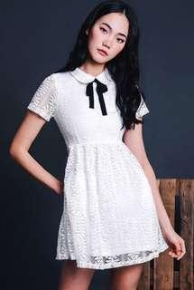 Fashmob Aster Lace Dress in White