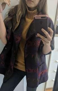 F21 Fall shawl cardigan