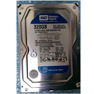WD 藍標 320GB 硬碟