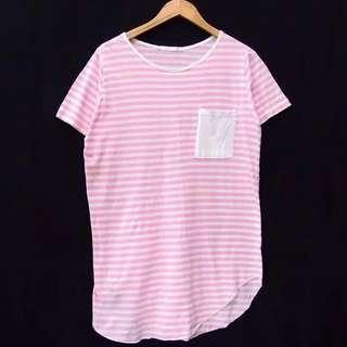 Kaos salur pink real pict #Carousellatma