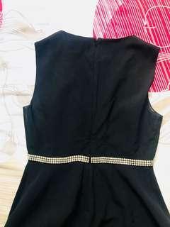 Elegant black flare dress ted baker