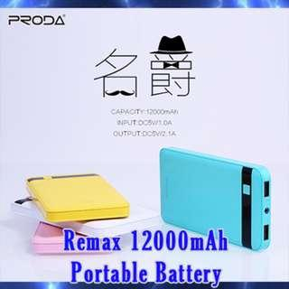 Brand New Proda(Remax) 12000mAh Portable battery charger