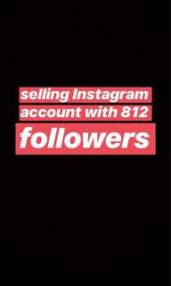 instagram page with 812 followers