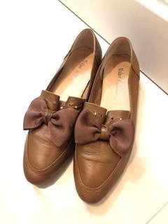 品牌Milan💯%真皮🐂皮🎀Loafer鞋👞👞Size:38
