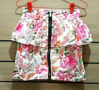 [NEW] Floral Print Skirt
