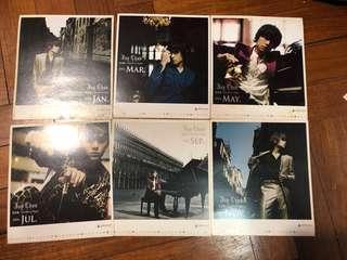 Jay Chou 2006 calendar cards (jan-dec)