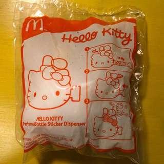 麥當勞開心樂園玩具 x Hello Kitty Perfume Bottle Sticker Dispenser