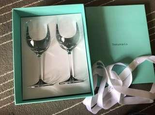 🚚 正品日本限定Tiffany&Co.水晶紅酒杯 水晶杯組 2個杯子 可刷卡 現貨 七夕情人節禮物 聖誕節交換禮物 結婚賀禮