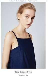 OSN Our Second Nature Boxy Cropped Top