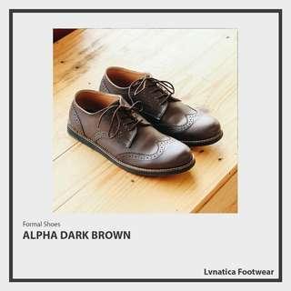 Lvnatica Footwear Alpha Dark Brown Pantofel Formal Shoes