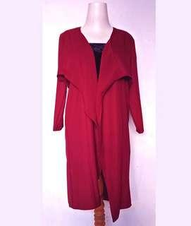 Long Cardigan Maroon