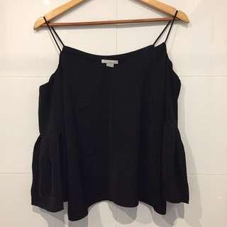 NEW! H&M Black Off-Shoulder Blouse