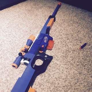 Nerf Sniper Rifle (L96 Style) 手拉狙
