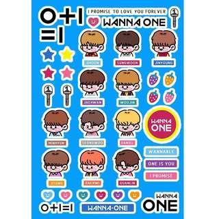 [PO] wanna one character stickers