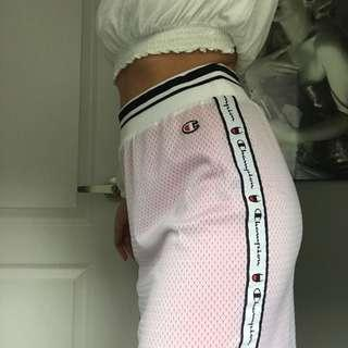Champion retro brand new pink and white mesh skirt