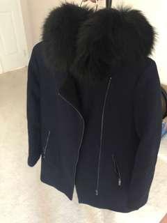 Calvin Klein hooded wool coat