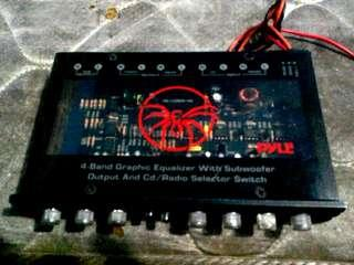 (Amplifier)4 graphic equalizer for subwoofer in car..