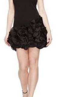 NEW WITHOUT TAGS - COOPER ST - BLACK MIDI DRESS WITH DETAIL RUFFLE BOTTOM HALF