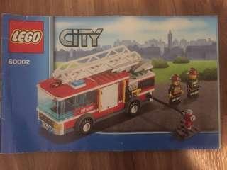 Lego city 60002 Firetruck