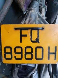 Plate no 8980 for sale