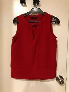 Zara Red Sleeveless Top (US XS)