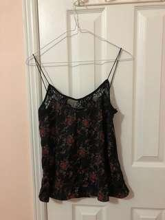 Zara Lace Back Floral Cami