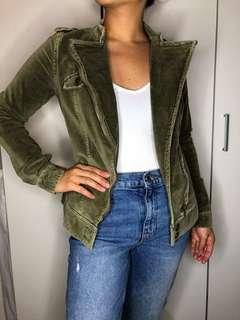 green velvet jacket SIZE XS-S