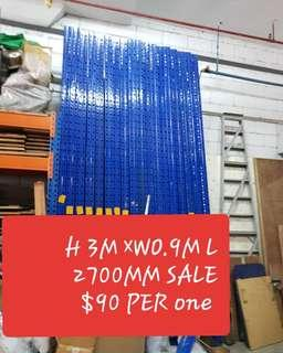 SALE ●USED ●HEAVY DUTY RACKING  PER VERTICAL SIDE  STRUCTURE   HEIGHT   3000MM   SALE   $90.00.  HEIGHT   3500MM    SALE    $130.00.  HEIGHT   4000MM    SALE    $150.00.    HEIGHT    4500MM    SALE    $180.00.   BEAM  LENGTH  2700MM SALE $25.00.