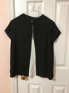 Zara XS Slit Silk Tank/T-shirt