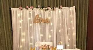 Photo backdrop rental with option of DIY/ setup service/ customised names