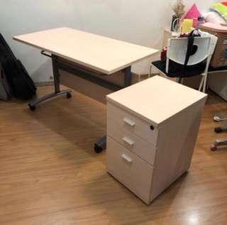 Work & Study Table and 3 Drawer cabinet