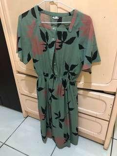 🚚 古著洋裝 抹茶綠