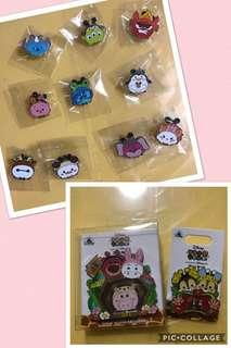 香港 迪士尼 徽章 Disney Tsum Tsum Fun Fair 2018 Pin SET