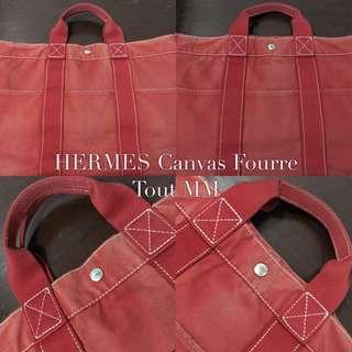 HERMES Canvas Fourre Tout MM