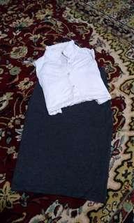 F21 Bodycone skirt in grey