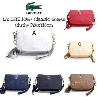 Lacoste classic women clutch